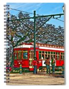 New Orleans Streetcar Painted Spiral Notebook
