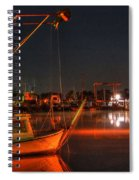 Night In The Harbor Spiral Notebook