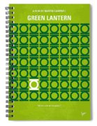 No120 My Green Lantern Minimal Movie Poster Spiral Notebook