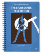 No246 My The Shawshank Redemption Minimal Movie Poster Spiral Notebook