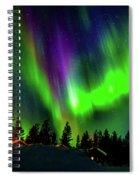 Northern Lights, Lapland, Sweden Spiral Notebook