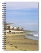 Nuclear Power Plant On The Beach, San Spiral Notebook