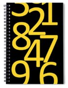 Numbers In Yellow And Black Spiral Notebook