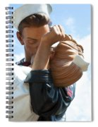 Nurse And Sailor Kissing Statue Unconditional Surrender Closeup  Spiral Notebook