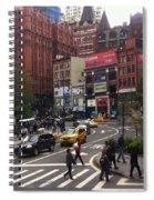 Nyc Street Scene Spiral Notebook