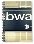 Nyc Subway Sign Spiral Notebook