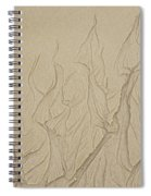 Ocean Sand Art Hearts Spiral Notebook