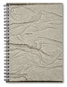 Ocean Sand Art Hearts Left Side Spiral Notebook