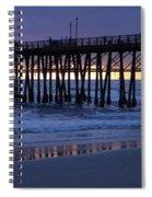 Oceanside Pier Sunset Spiral Notebook