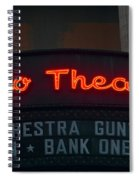 Ohio Theater Marquee Theater Sign Spiral Notebook
