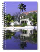 Oil Painting - Cottages And Lagoon Water In Alleppey Spiral Notebook