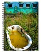 Old Bathtub Near Painted Barn Spiral Notebook