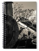 Old Black Locomotive Engine Details Spiral Notebook