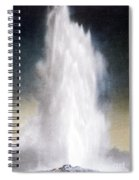 Old Faithful Geyser Yellowstone Np Spiral Notebook