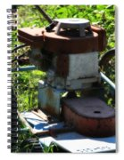 Old Junky Lawn Mower Spiral Notebook