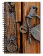 Old Lock, Mexico Spiral Notebook