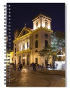 Old Portuguese Colonial Church In Macau Macao China Spiral Notebook