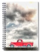 Old Red Ford Pickup Spiral Notebook
