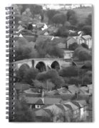 Old Stirling Bridge And Houses As Visible From Stirling Castle Spiral Notebook