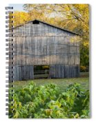 Old Tobacco Barn Spiral Notebook