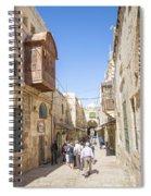 Old Town Street In Jerusalem Israel Spiral Notebook