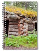 Old Traditional Log Cabin Rotting In Yukon Taiga Spiral Notebook