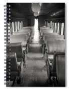 Old Train Seats Spiral Notebook
