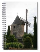 Old Provencal Windmill Spiral Notebook