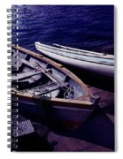 Old Wooden Boats At Night Spiral Notebook