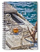 Old Wooden Fishing Boat Detail Spiral Notebook