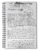 Olive Branch Petition, 1775 Spiral Notebook