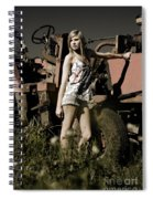 On The Farm At Dusk Spiral Notebook