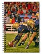 On The Goal Line - Notre Dame Vs Utah Spiral Notebook