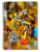 One Life One Love Padlock Spiral Notebook