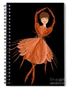 1 Orange Ballerina Spiral Notebook