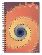 Orange Fractal Spiral Notebook