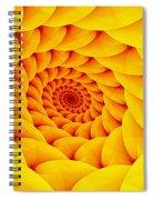 Yellow Pillow Vortex Spiral Notebook