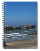 Oregon Beach And Rocks Spiral Notebook