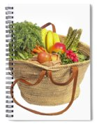 Organic Fruit And Vegetables In Shopping Bag Spiral Notebook