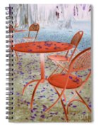 Outside Cafe  Spiral Notebook