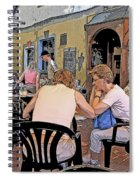 Outside Seating Spiral Notebook