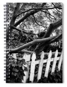 Overflowing A Picket Fence Spiral Notebook