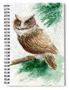 Owl Study Spiral Notebook