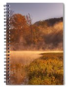 Paddling In Mist Spiral Notebook