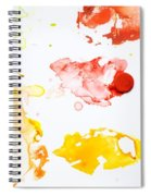Paint Splatters And Paint Brush Spiral Notebook