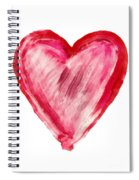 Painted Heart - Symbol Of Love Spiral Notebook