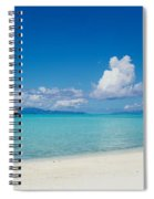 Palm Tree On The Beach, Moana Beach Spiral Notebook
