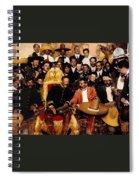 Pancho Villa In Presidential Chair And Emiliano Zapata Palacio Nacional Mexico City December 6 1914 Spiral Notebook