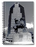 Pancho Villa Statue Downtown Tucson Arizona 1988-2008  Spiral Notebook