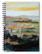 Panorama Of Jerusalem Spiral Notebook